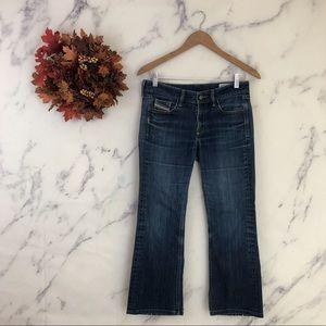 Diesel Ramys Bootcut Crop Jeans